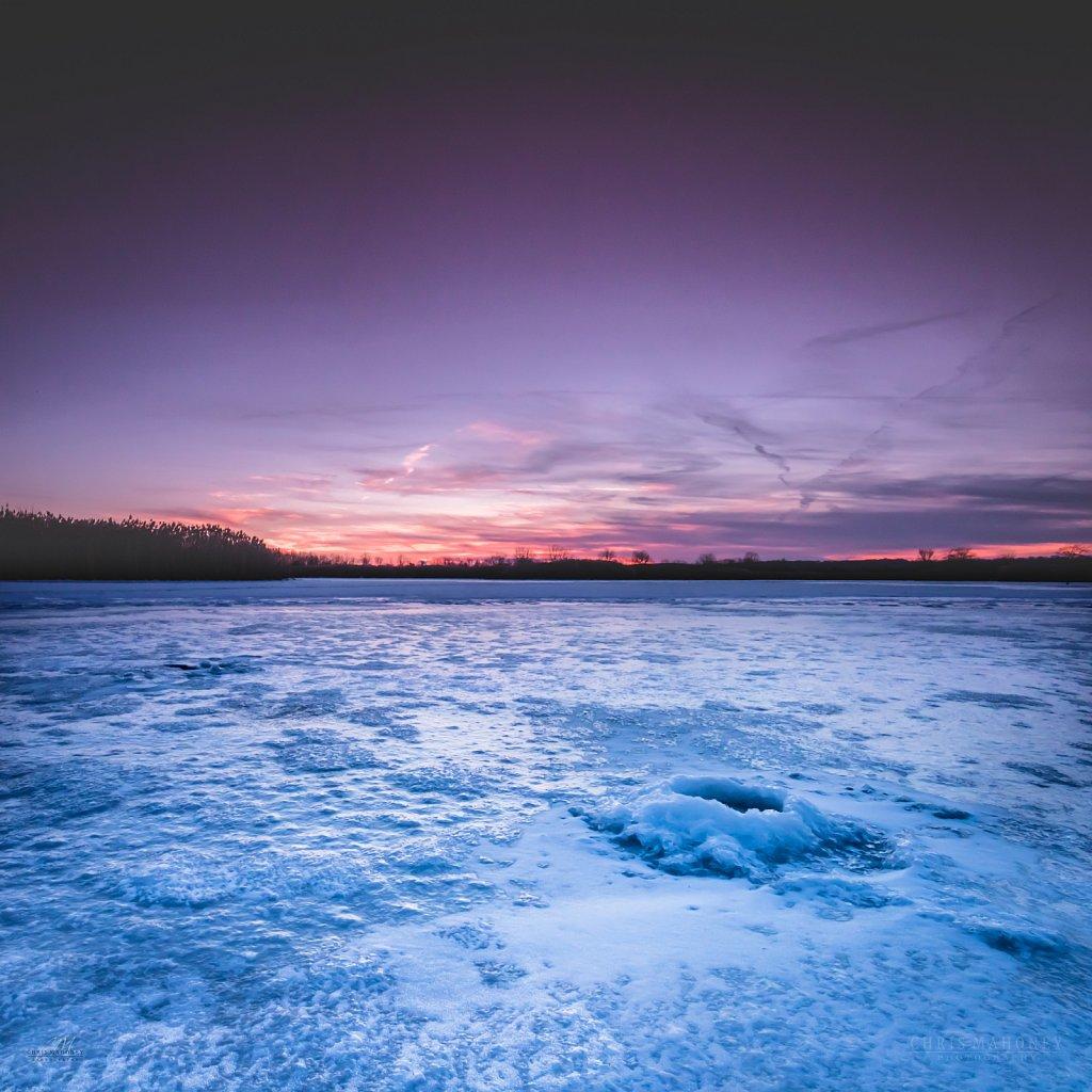 Winter fishing hole