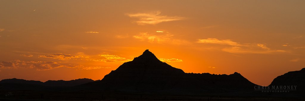 Cowboy Sunset - Badlands National Park